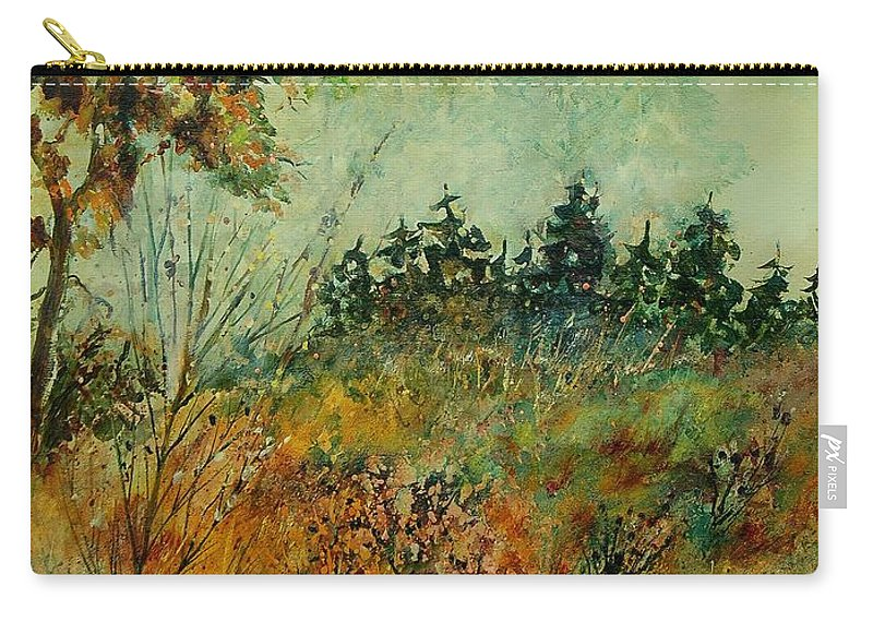 Tree Carry-all Pouch featuring the painting Autumn Mist 68 by Pol Ledent