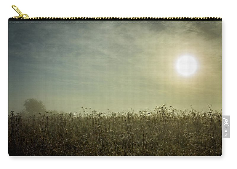 Misty Carry-all Pouch featuring the photograph Autumn Mist by David Mckenna