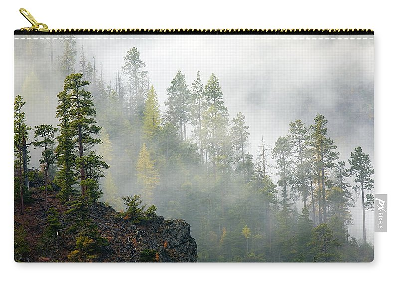 Ridges Carry-all Pouch featuring the photograph Autumn Mist by Mike Dawson