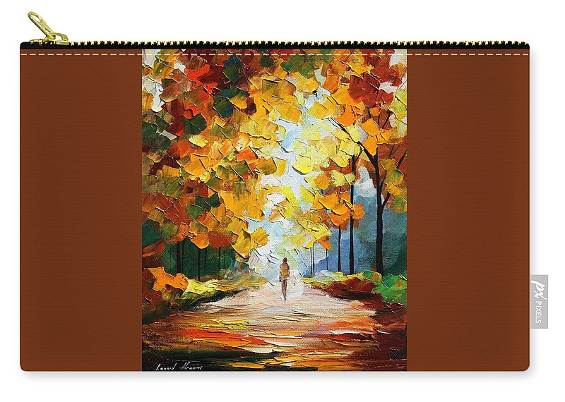 Landscape Carry-all Pouch featuring the painting Autumn Mood by Leonid Afremov