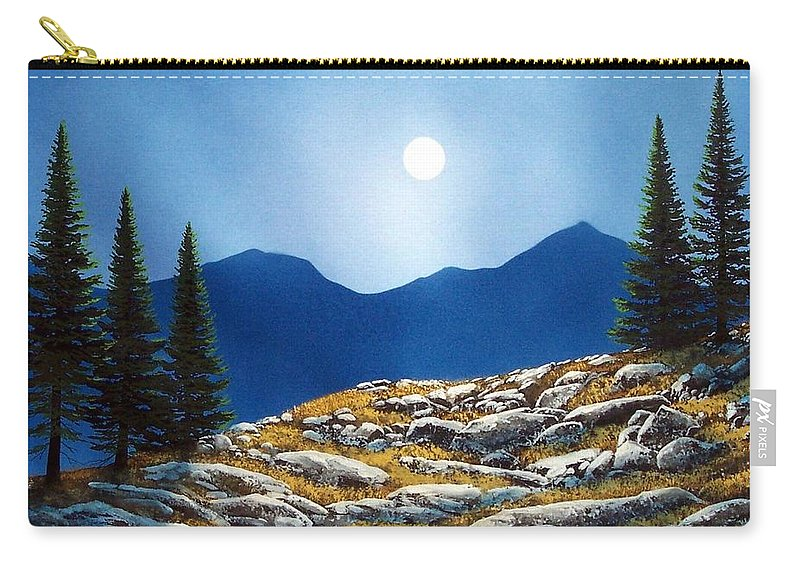 Landscape Carry-all Pouch featuring the painting Autumn Moon by Frank Wilson