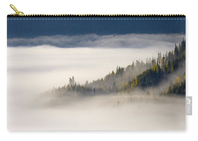 Fog Carry-all Pouch featuring the photograph Autumn Morn by Mike Dawson