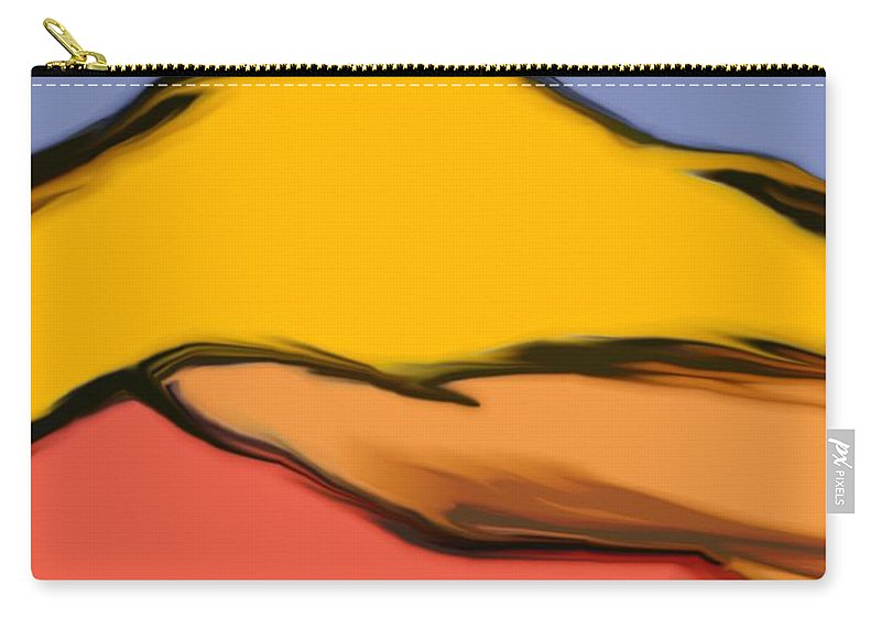 Digital Art Carry-all Pouch featuring the digital art Autumn Mosaic by David Lane