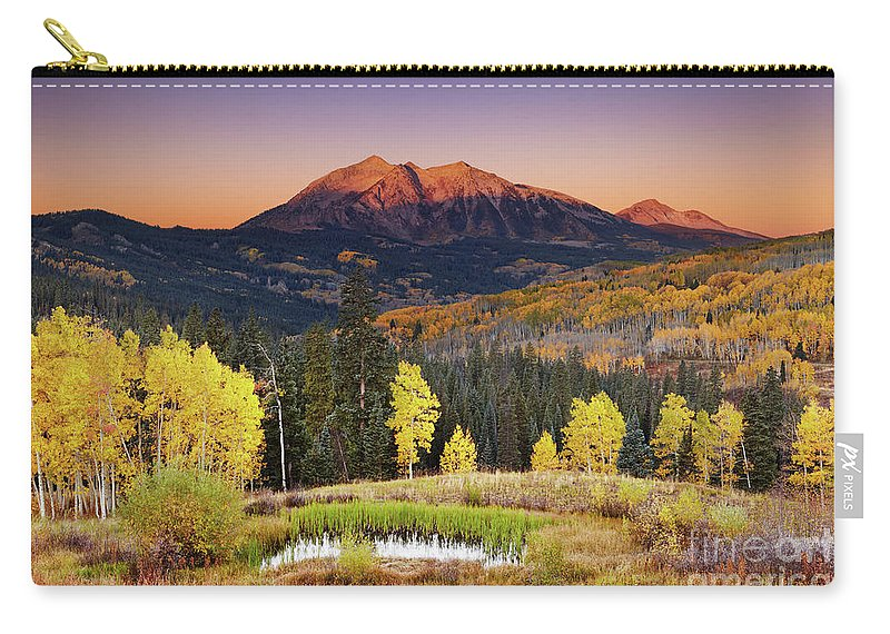 America Carry-all Pouch featuring the photograph Autumn Mountain Landscape, Colorado, Usa by Dmitry Pichugin