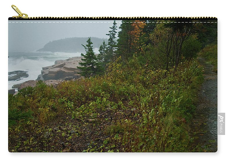 nor' Easter Carry-all Pouch featuring the photograph Autumn Nor' Easter by Paul Mangold