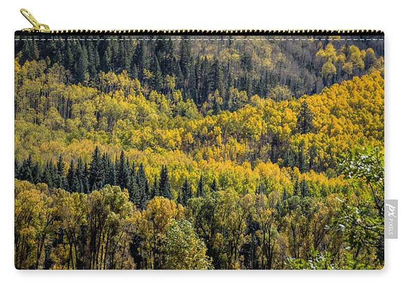 Autumn Carry-all Pouch featuring the photograph Autumn On A Colorado Range by Janice Pariza