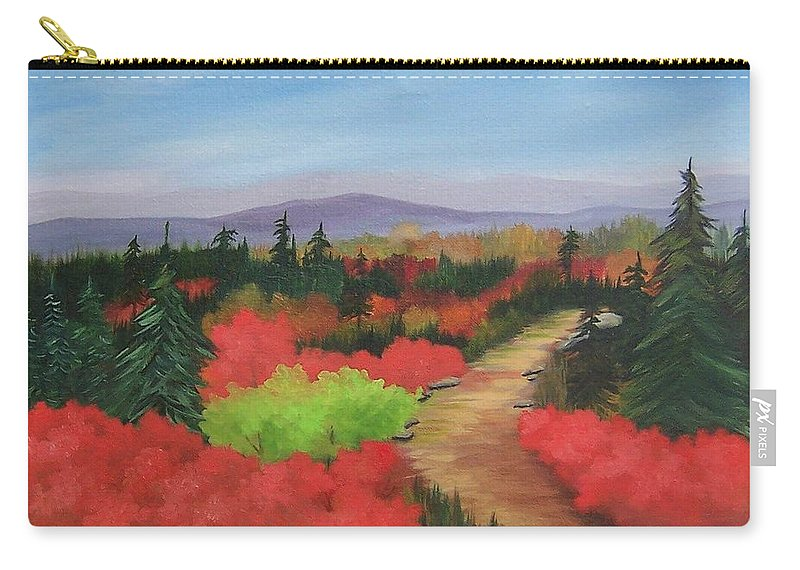 Landscape Carry-all Pouch featuring the painting Autumn On Dolly Sods by Ruth Housley