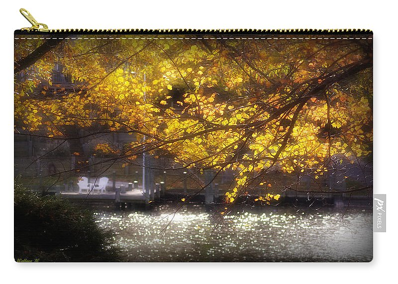 2d Carry-all Pouch featuring the photograph Autumn On The Cove by Brian Wallace