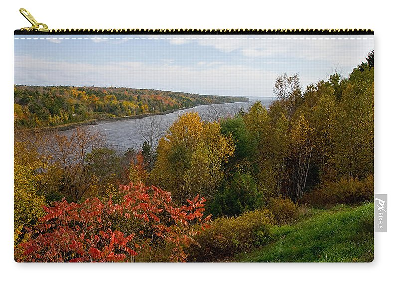 Autumn Carry-all Pouch featuring the photograph Autumn On The Penobscot by Brent L Ander