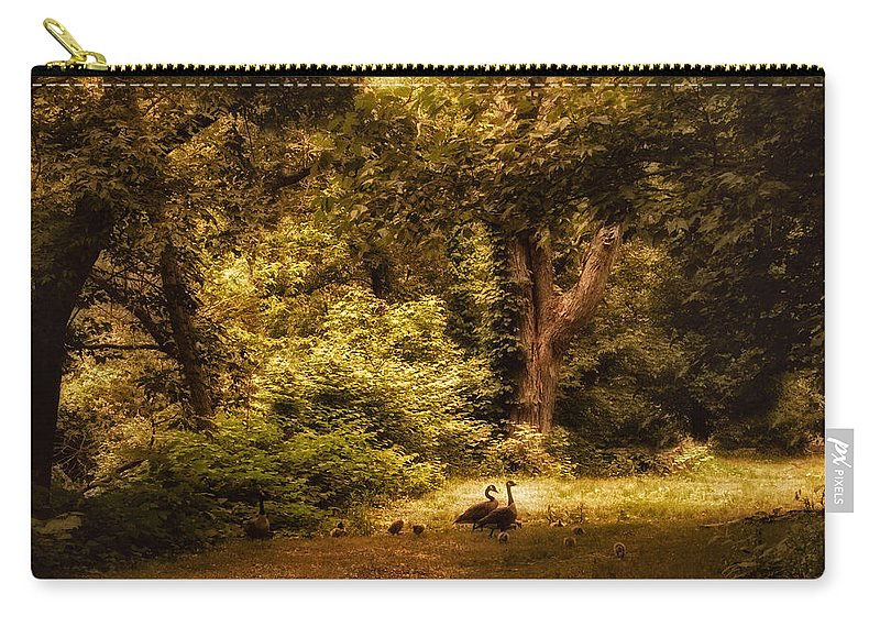 Autumn Carry-all Pouch featuring the photograph Autumn Outing by Jessica Jenney