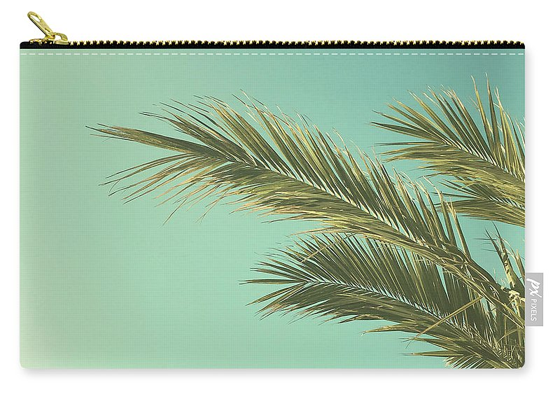 Palm Trees Carry-all Pouch featuring the photograph Autumn Palms II by Cassia Beck