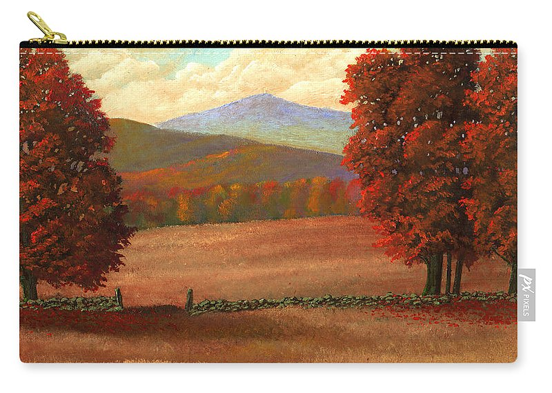 Autumn Carry-all Pouch featuring the painting Autumn Pastures by Frank Wilson