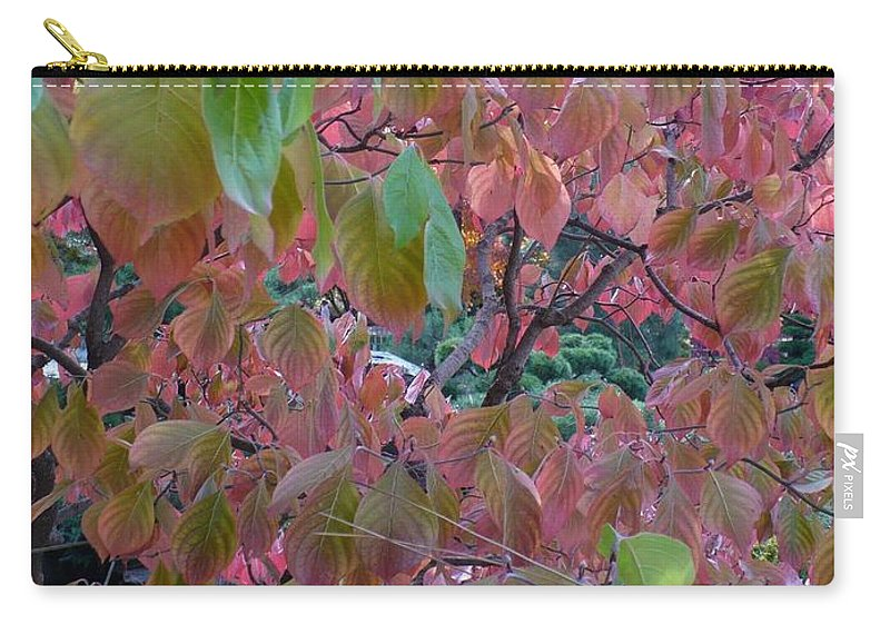 Fall Carry-all Pouch featuring the photograph Autumn Pink Poster by Carol Groenen