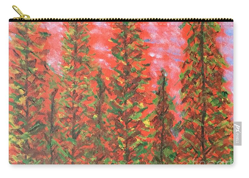 Autumn Carry-all Pouch featuring the painting Autumn Vivaldi by Rebecca Snowball