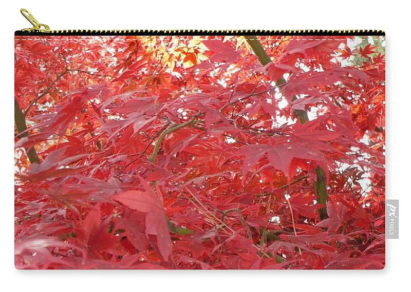 Autumn Carry-all Pouch featuring the photograph Autumn Red Poster by Carol Groenen