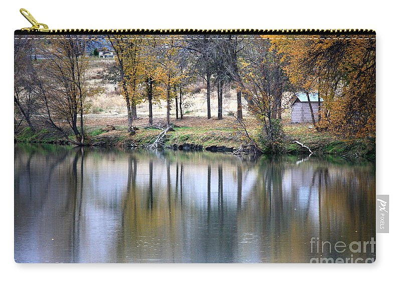 Fall Reflection Carry-all Pouch featuring the photograph Autumn Reflection 16 by Carol Groenen