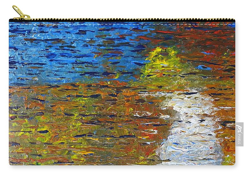 Autumn Reflection Carry-all Pouch featuring the painting Autumn Reflection by Jacqueline Athmann