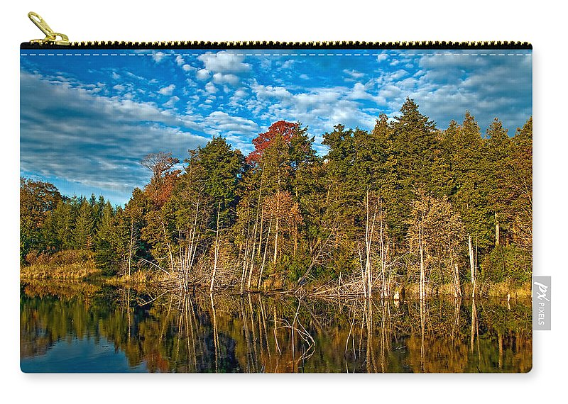 Reflection Carry-all Pouch featuring the photograph Autumn Reflection by Steve Harrington