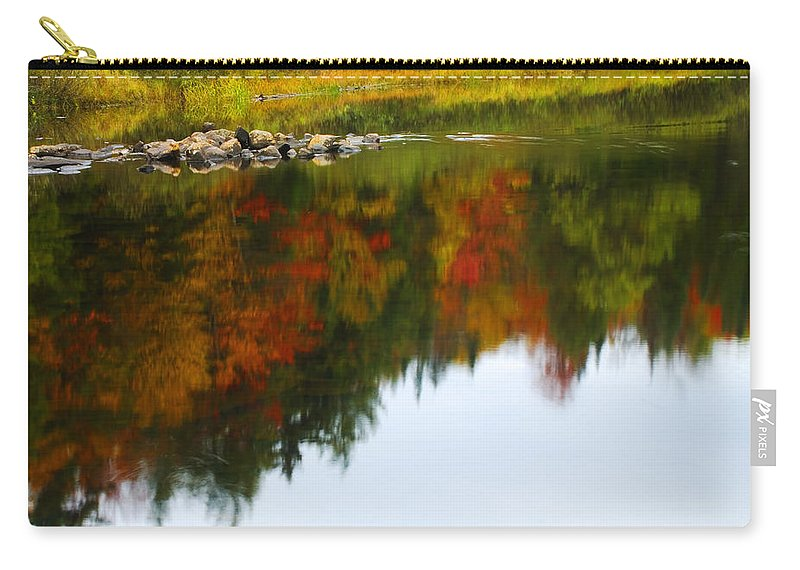 Autumn Carry-all Pouch featuring the photograph Autumn Reflection by Tony Beaver