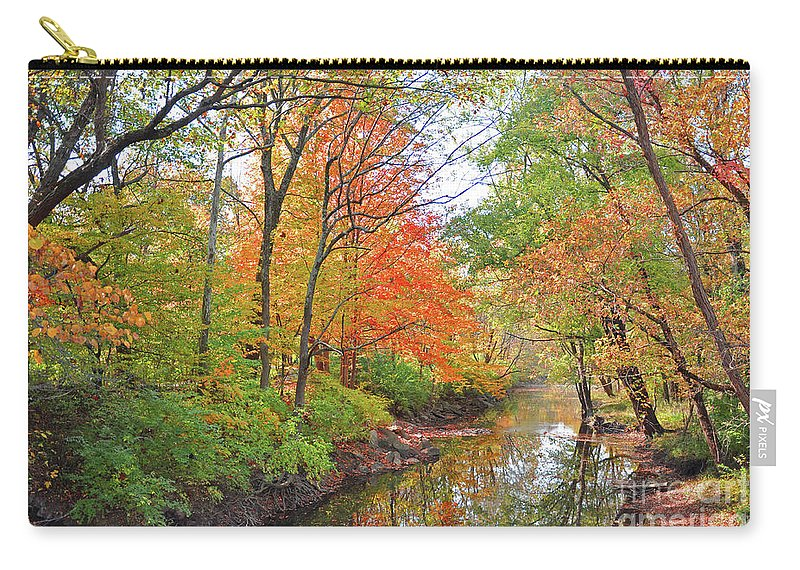 Autumn Reflections Carry-all Pouch featuring the photograph Autumn Reflections by Brittany Horton