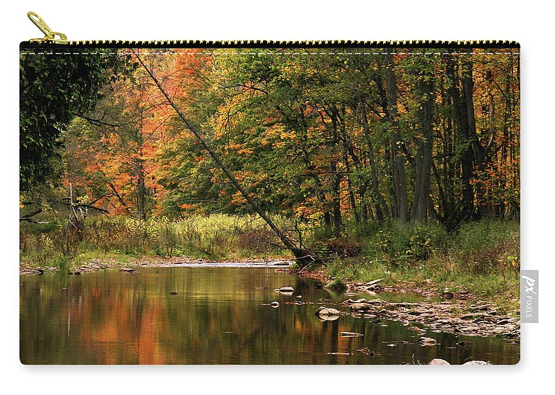 Tree Carry-all Pouch featuring the photograph Autumn Reflections by Phill Doherty