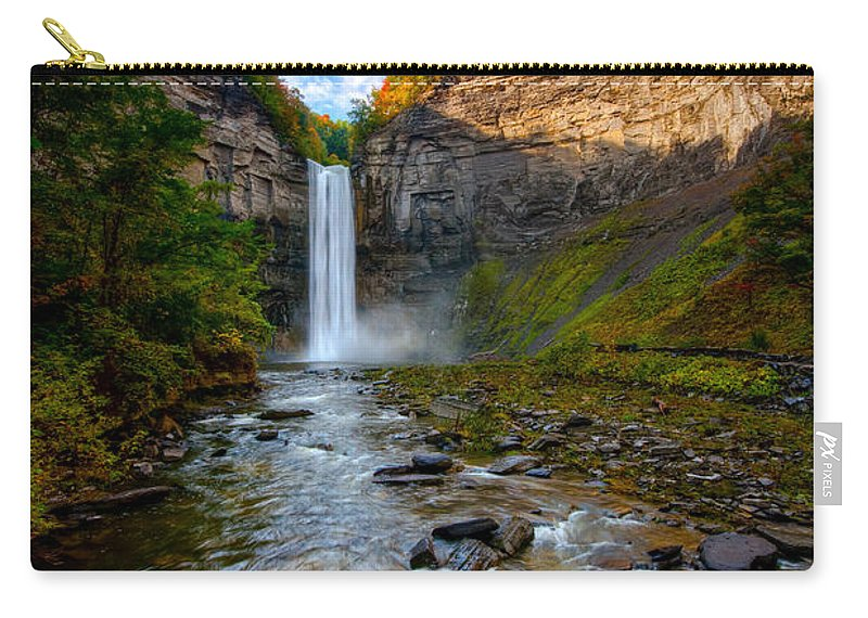 Taughannock State Park Carry-all Pouch featuring the photograph Autumn Riches by Neil Shapiro