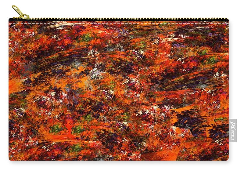 Abstract Digital Painting Carry-all Pouch featuring the digital art Autumn Riot by David Lane