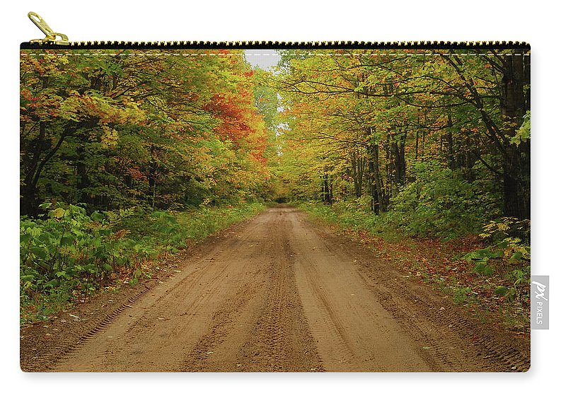 Autumn Carry-all Pouch featuring the photograph Autumn Road by Michael Peychich