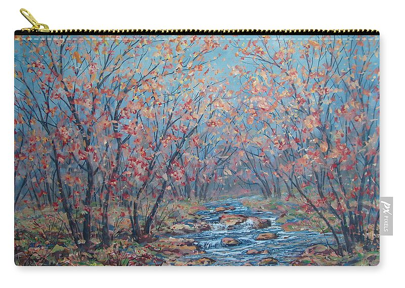 Landscape Carry-all Pouch featuring the painting Autumn Serenity by Leonard Holland
