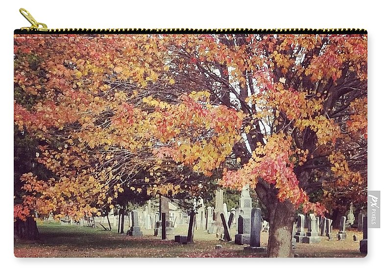 Landscape Carry-all Pouch featuring the photograph Autumn Serenity by Sarah Campbell
