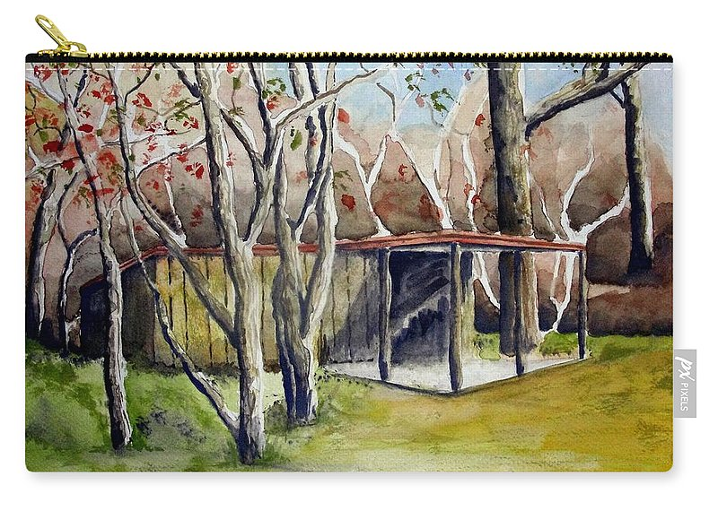 Autumn Carry-all Pouch featuring the painting Autumn Shed by Jimmy Smith