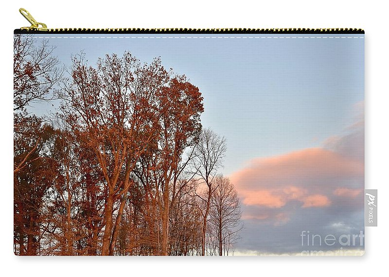 Amazing Sunset Carry-all Pouch featuring the photograph Autumn Sky by Jeramey Lende