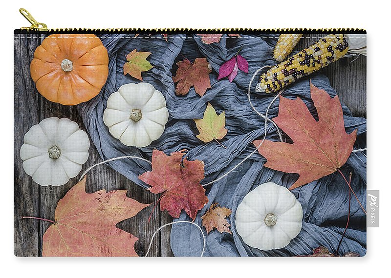 Pumpkin Carry-all Pouch featuring the photograph Autumn Still Life by Kim Hojnacki