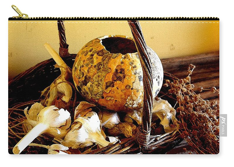 Still Life Carry-all Pouch featuring the photograph Autumn Still Life by Nelson Strong