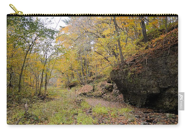 Forest Carry-all Pouch featuring the photograph Autumn Stream by Bonfire Photography