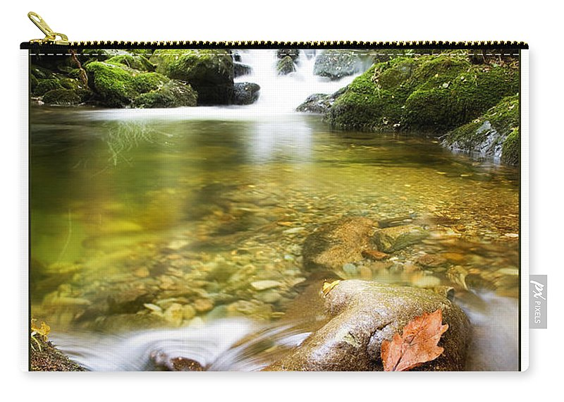 Stream Carry-all Pouch featuring the photograph Autumn Stream by Mal Bray