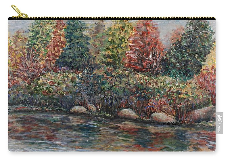 Autumn Carry-all Pouch featuring the painting Autumn Stream by Nadine Rippelmeyer