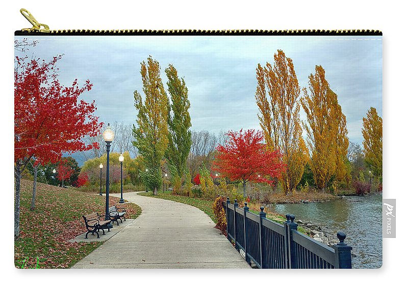 Park Carry-all Pouch featuring the photograph Autumn Stroll In The Park by Michael Rucker