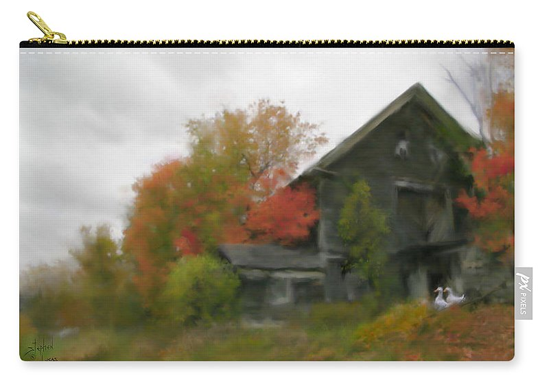 Nature Carry-all Pouch featuring the painting Autumn Stroll by Stephen Lucas
