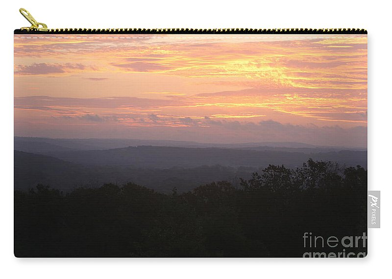 Sunrise Carry-all Pouch featuring the photograph Autumn Sunrise Over The Ozarks by Nadine Rippelmeyer