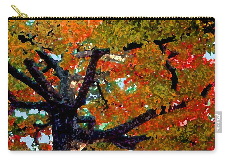 Fall Carry-all Pouch featuring the photograph Autumn Tree by Steve Karol