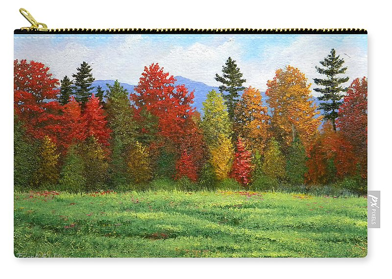 Autumn Carry-all Pouch featuring the painting Autumn Trees by Frank Wilson