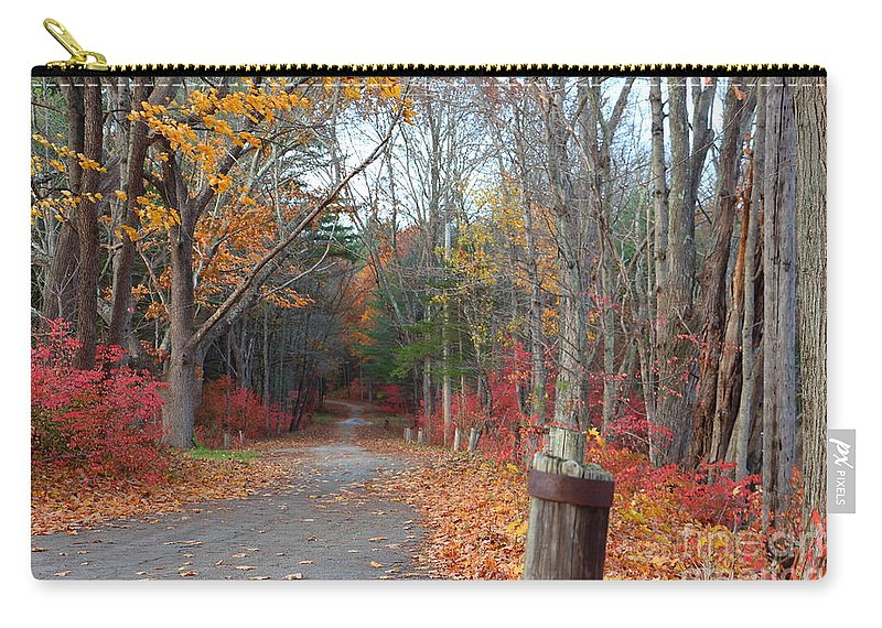 Fall Carry-all Pouch featuring the photograph Autumn Walk At West Thompson Lake by Neal Eslinger