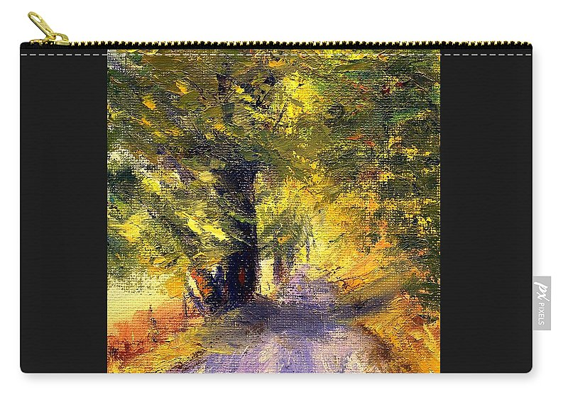 Autumn Carry-all Pouch featuring the painting Autumn Walk by Gail Kirtz