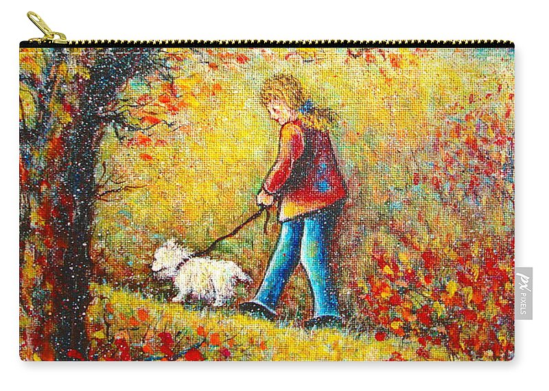 Landscape Carry-all Pouch featuring the painting Autumn Walk by Natalie Holland