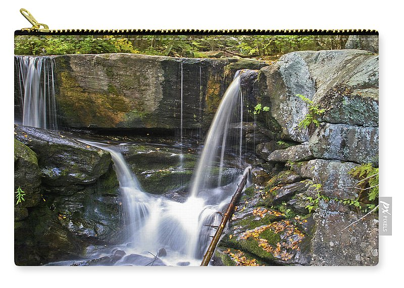 Waterfall Carry-all Pouch featuring the photograph Autumn Waterfall by Albert Seger