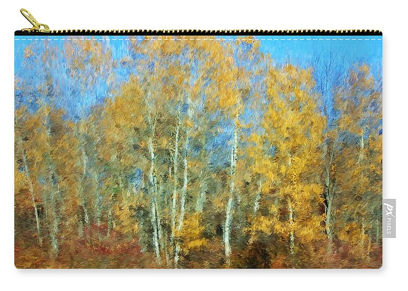 Carry-all Pouch featuring the photograph Autumn Woodlot by David Lane