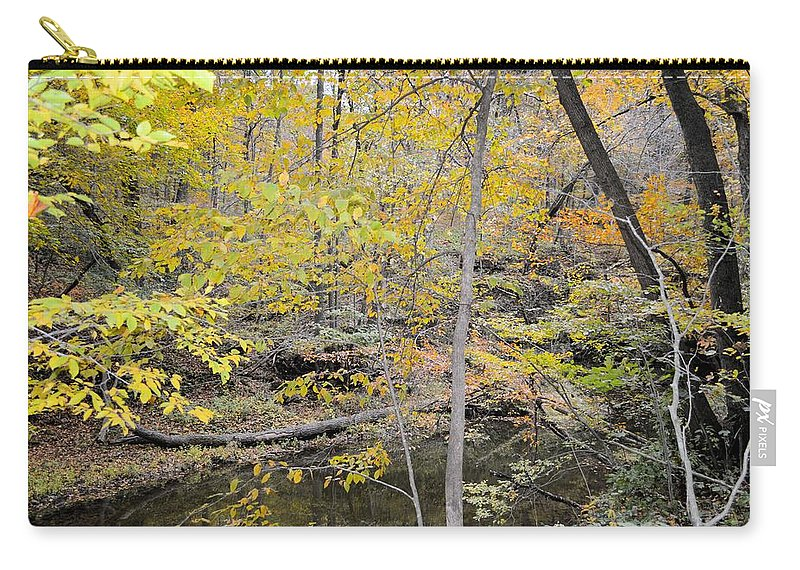 Forest Carry-all Pouch featuring the photograph Autumn Woods 2 by Bonfire Photography