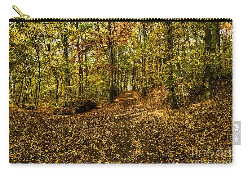 Fall Trees Carry-all Pouch featuring the photograph Autumn Woods by Brothers Beerens
