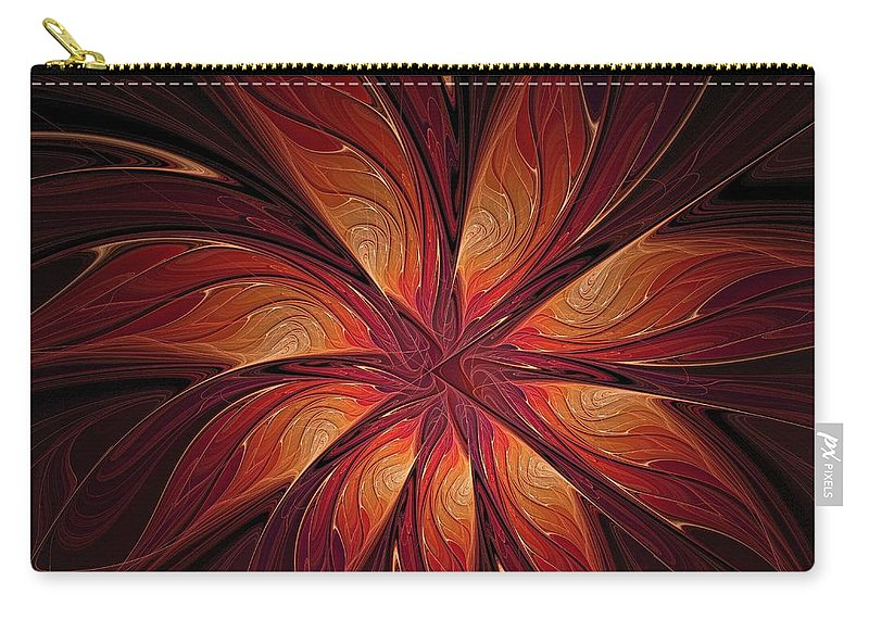 Digital Art Carry-all Pouch featuring the digital art Autumnal Glory by Amanda Moore